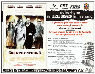 COUNTRY STRONG SINGING CONTEST FLYER - ATLANTA