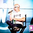 Moby being interviewed at the CNN Grill-8