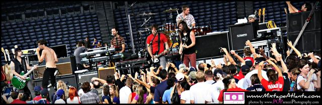 All American Rejects at the Braves game -27